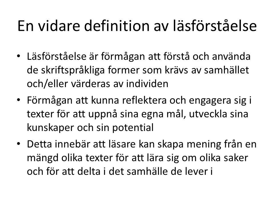 Kulturellt och ekonomiskt kapital I både svenska och norska data fanns ett samband mellan kulturellt kapital och den övergripande läsprestationen Däremot återfanns inte något samband mellan den unika digitala läsfaktorn och faktorn för kulturellt kapital