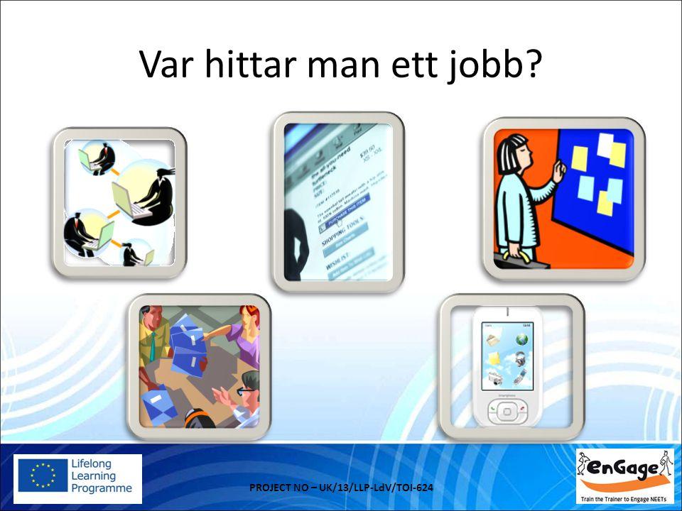 Var hittar man ett jobb? PROJECT NO – UK/13/LLP-LdV/TOI-624