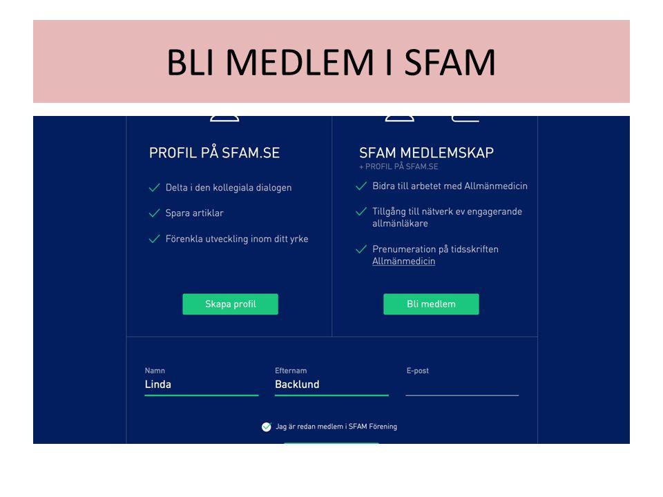 BLI MEDLEM I SFAM