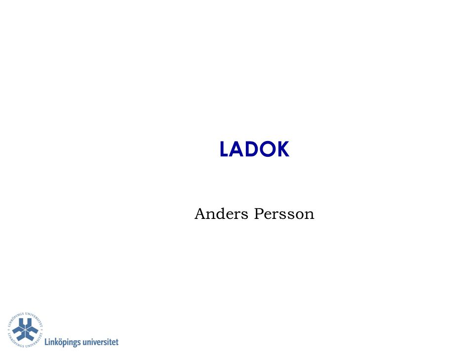 LADOK Anders Persson