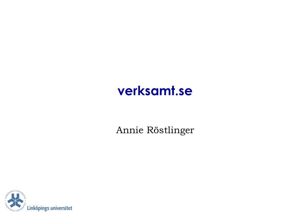 verksamt.se Annie Röstlinger