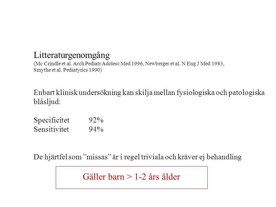Undersökning av barn med blåsljud Efter BM Ekman-Joelsson, Skövde 2006 Anamnes: - Hereditet - När hördes blåsljudet första gången.