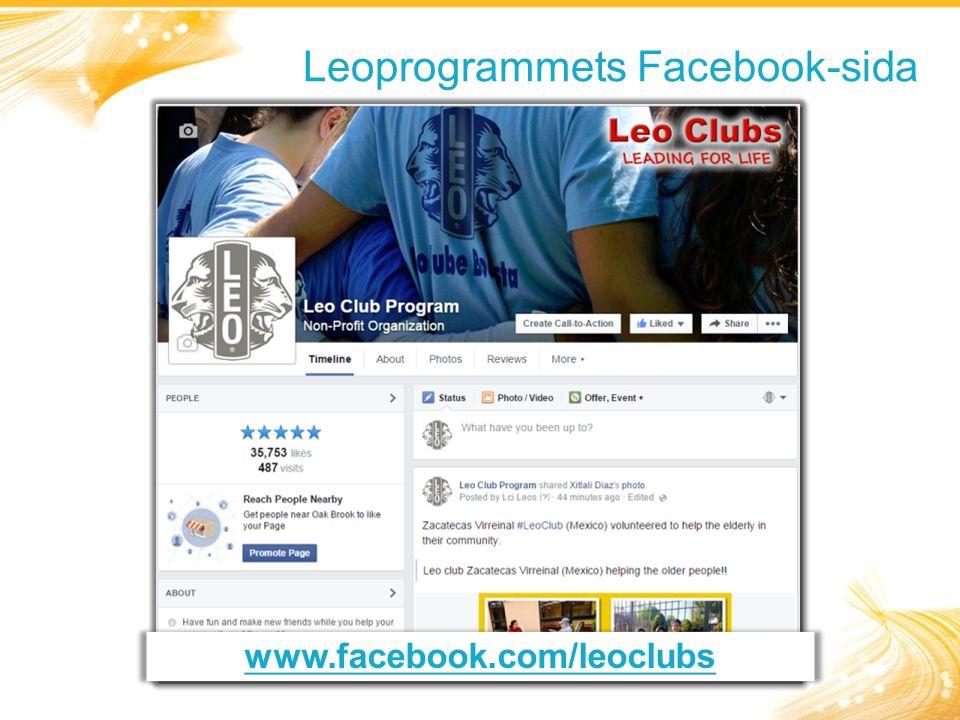 Leoprogrammets Facebook-sida www.facebook.com/leoclubs