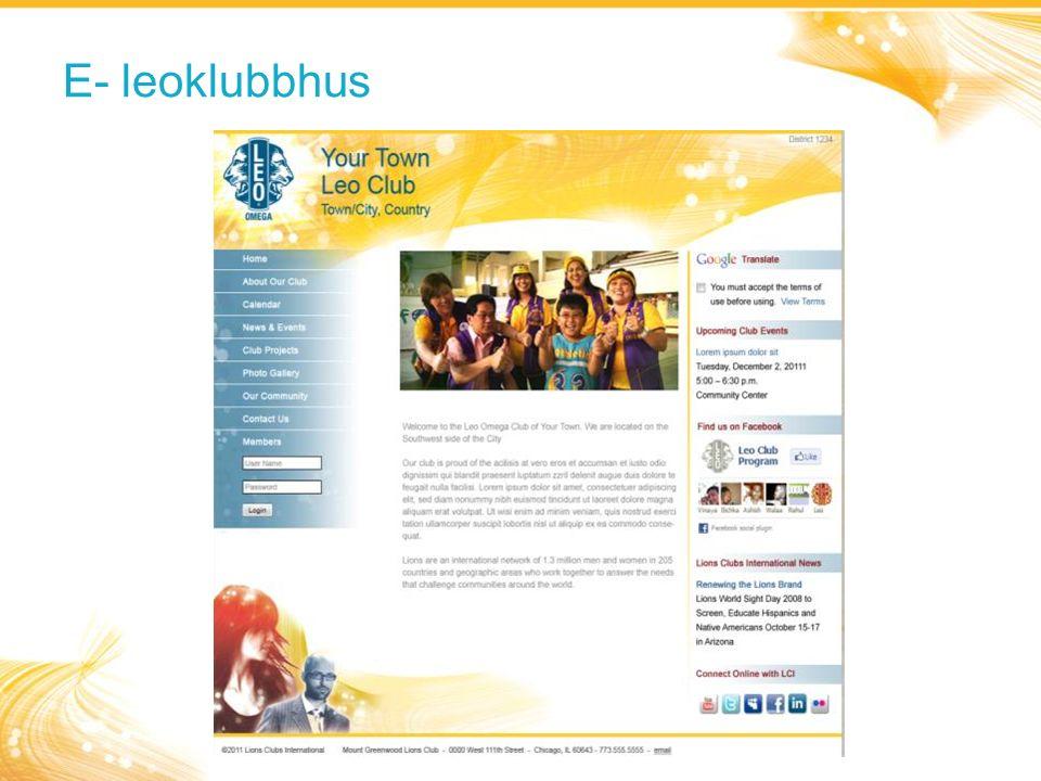 E- leoklubbhus