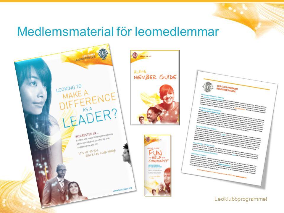 Medlemsmaterial för leomedlemmar Leoklubbprogrammet