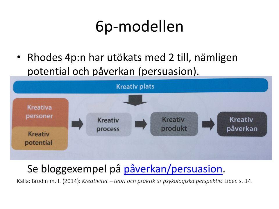 6p-modellen Rhodes 4p:n har utökats med 2 till, nämligen potential och påverkan (persuasion).