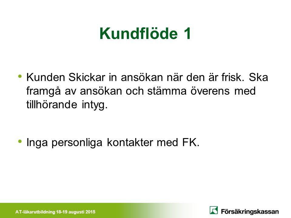 AT-läkarutbildning 18-19 augusti 2015 www.forsakringskassan.se