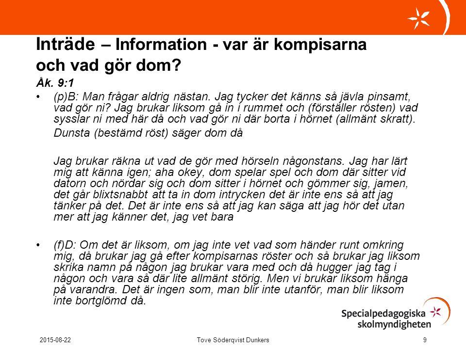 Inträde – att bidra med något Åk.