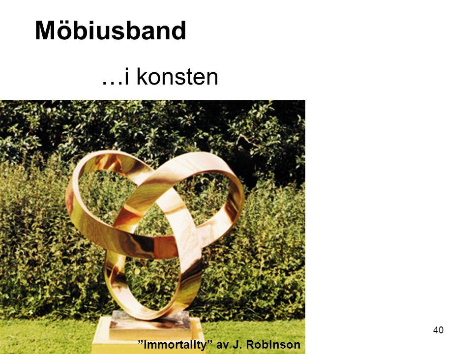 41 Möbiusband …i konsten We have died and gone to Mobius heaven av Teja Krasek & Cliff Pickover