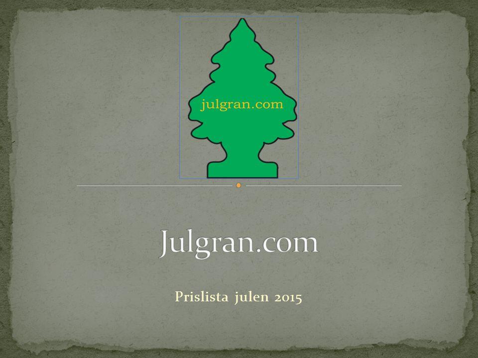 Prislista julen 2015