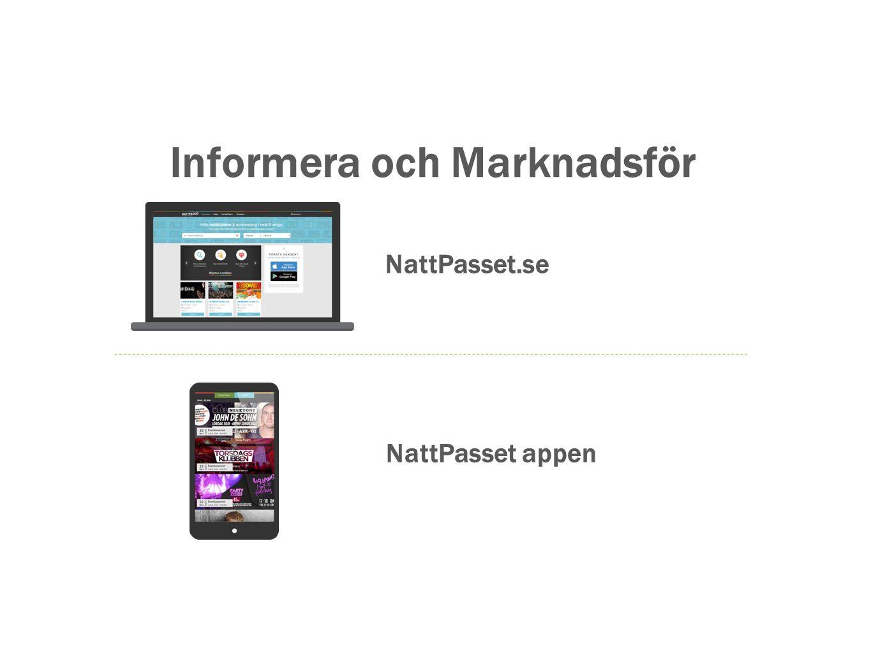 Informera och Marknadsför NattPasset.se NattPasset appen