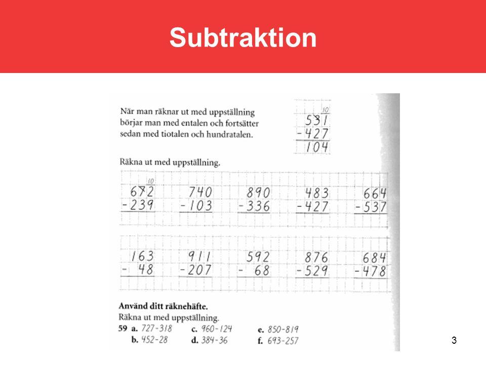Subtraktion 3