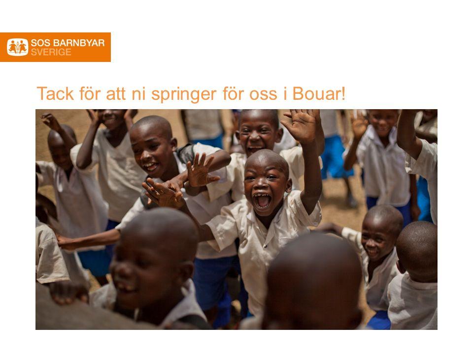 Tack för att ni springer för oss i Bouar!