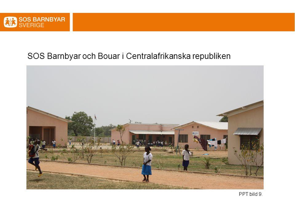 SOS Barnbyar och Bouar i Centralafrikanska republiken PPT bild 9.