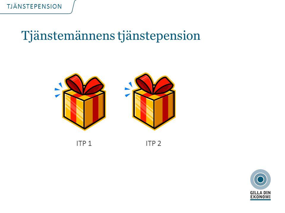 TJÄNSTEPENSION Tjänstemännens tjänstepension ITP 1ITP 2