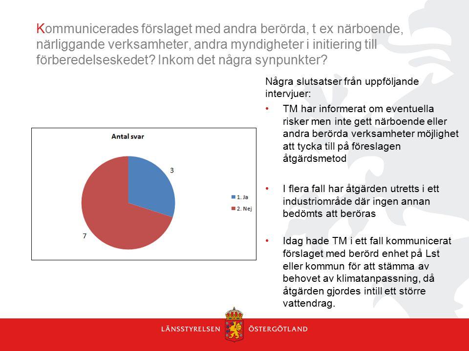 Kommunicerades förslaget med andra berörda, t ex närboende, närliggande verksamheter, andra myndigheter i initiering till förberedelseskedet? Inkom de