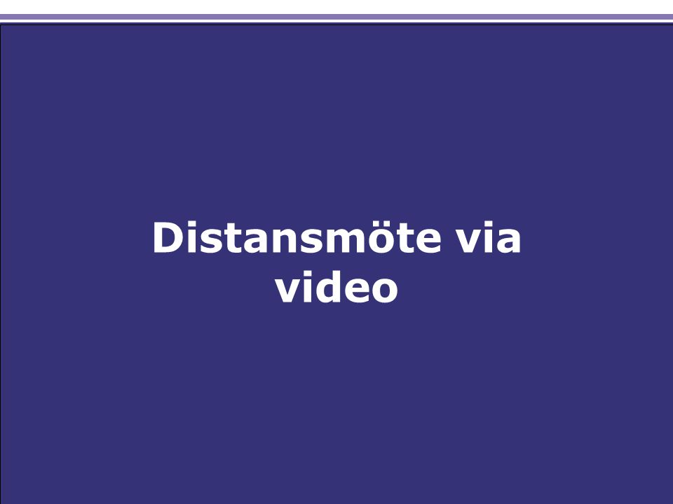 Distansmöte via video
