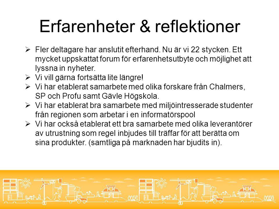 Kunskapsspridning  Koordinatorn har hållit föredrag om Smart Energi på Recyclingdagarna i Helsingborg den 6/5.