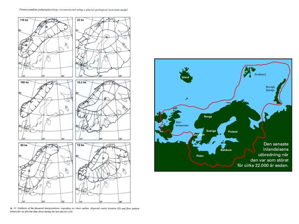 För ca 16 000 år sedan började Weichsel-isen smälta bort och för ca 10 000 år sedan började isen smälta i Finland För ca 13 000 år sedan lika varmt eller varmare än idag, så avsmältningen gick snabbt Östersjön genomgick ett antal stadier vartefter isen försvann och landhöjningen fortskred.