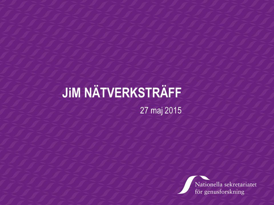JiM NÄTVERKSTRÄFF 27 maj 2015