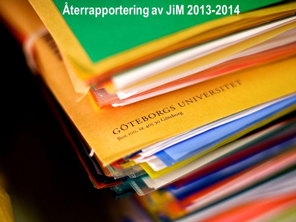 ORD ELLER MENING ATT PRATA OM! Återrapportering av JiM 2013-2014