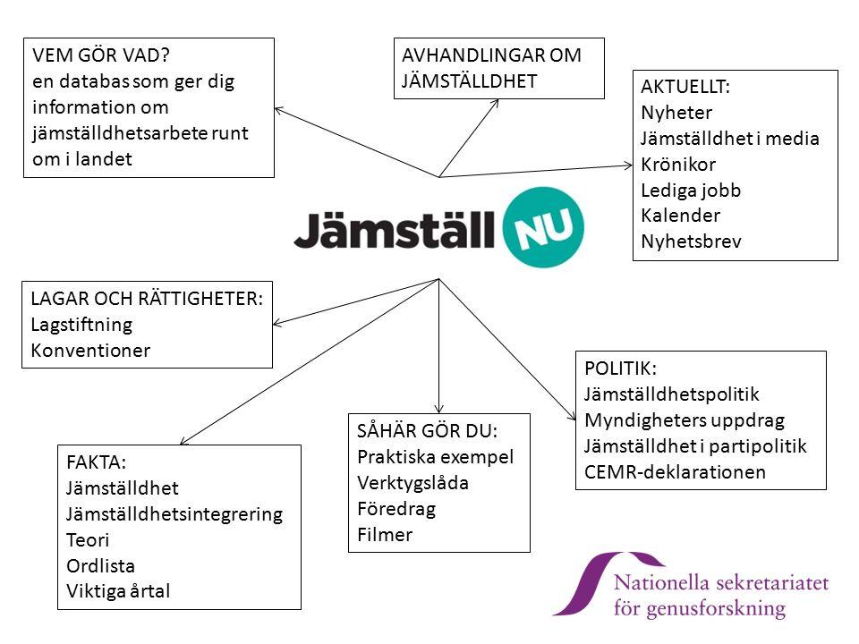 Länsstyrelserna – en del av svensk jämställdhetspolitik Jämställ.nu Strategi för jämställdhets- integrering i Regerings- kansliet Ett utvecklings- program för myndigheter Stöd till jämställdhets- integrering på regional nivå Insatser för att samla och sprida erfarenheter och kunskap om praktiskt arbete med jämställdhets- integrering Länsstyrelserna JiM