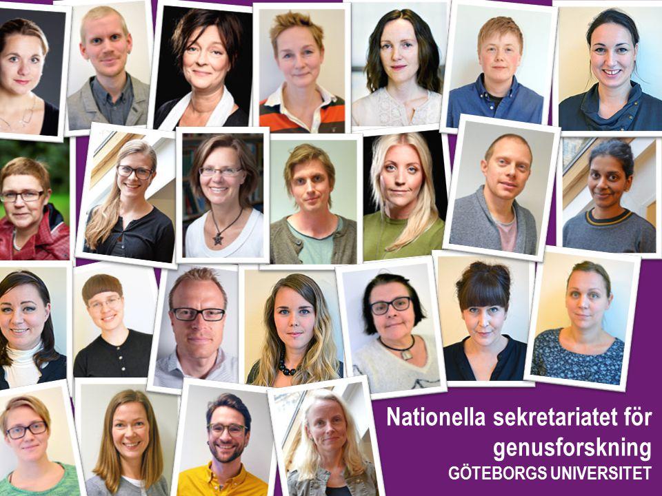 Nationella sekretariatet för genusforskning GÖTEBORGS UNIVERSITET