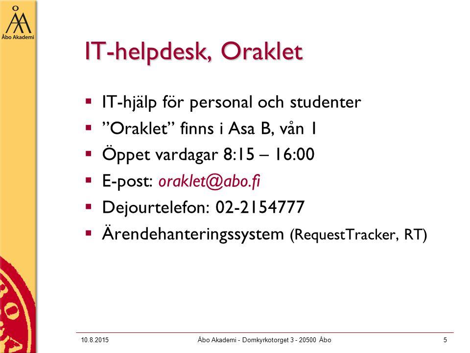 10.8.2015Åbo Akademi - Domkyrkotorget 3 - 20500 Åbo36 Scratch  En sk.