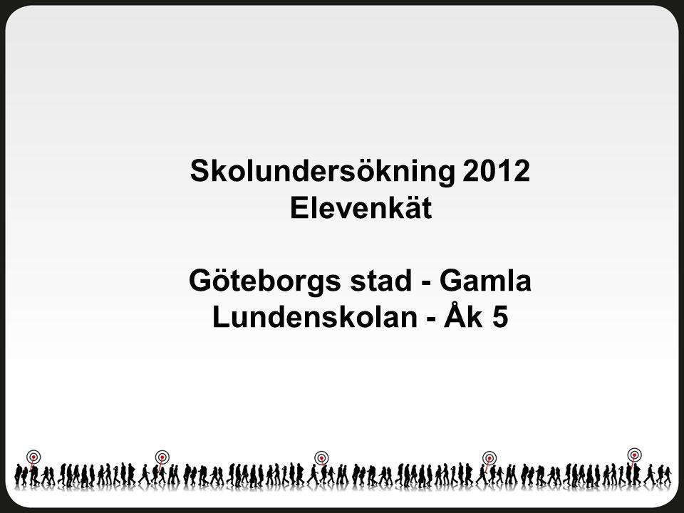 Skolundersökning 2012 Elevenkät Göteborgs stad - Gamla Lundenskolan - Åk 5