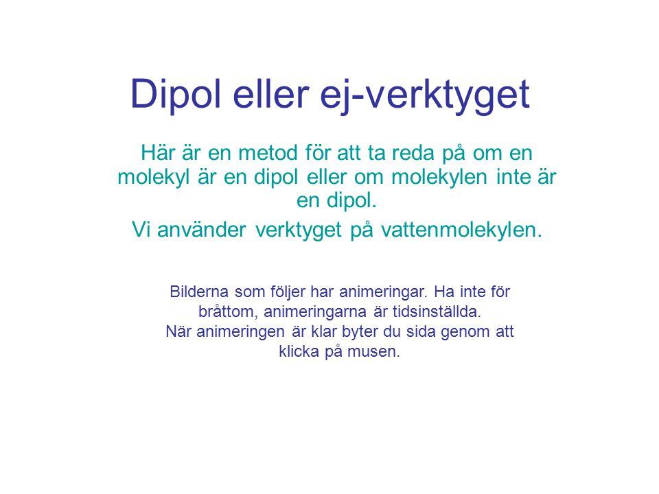 Dipol eller ej-verktyget Här är en metod för att ta reda på om en molekyl är en dipol eller om molekylen inte är en dipol.