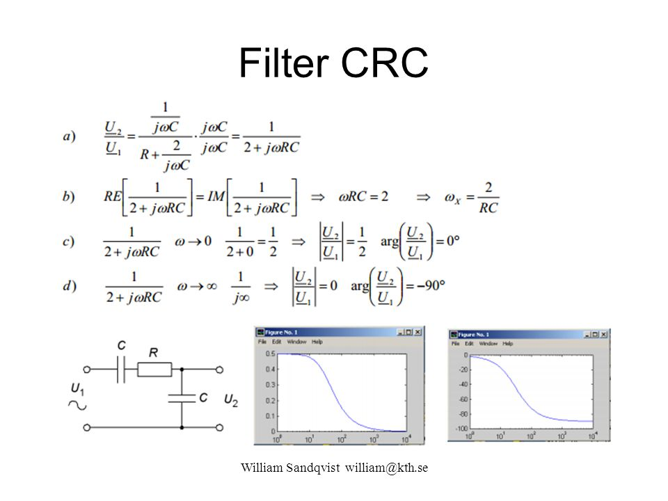 Filter CRC William Sandqvist william@kth.se