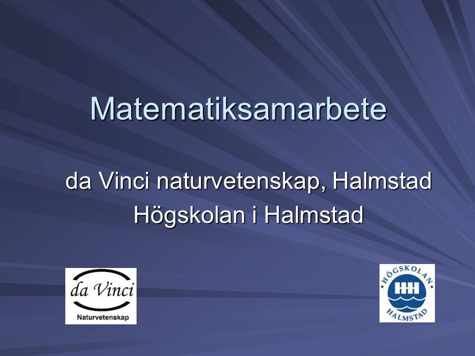 Matematiksamarbete da Vinci naturvetenskap, Halmstad Högskolan i Halmstad