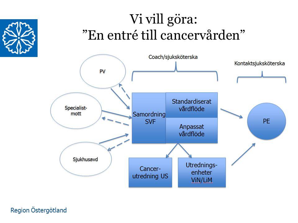 """Region Östergötland Vi vill göra: """"En entré till cancervården"""""""