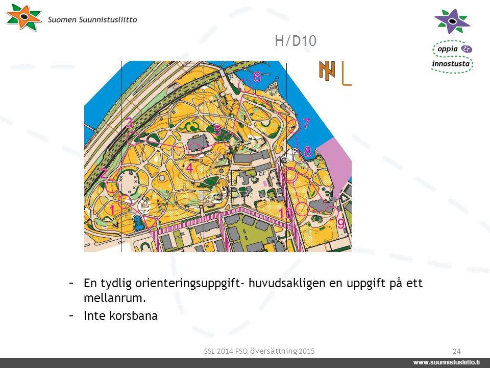 www.suunnistusliitto.fi facebook.com/suunnistusliitto @SuunnistusSSL www.suunnistusliitto.fi H/D10 24 - En tydlig orienteringsuppgift- huvudsakligen e