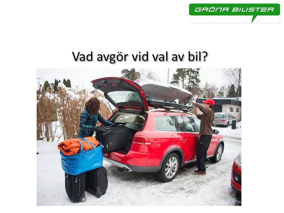 Vad avgör vid val av bil?
