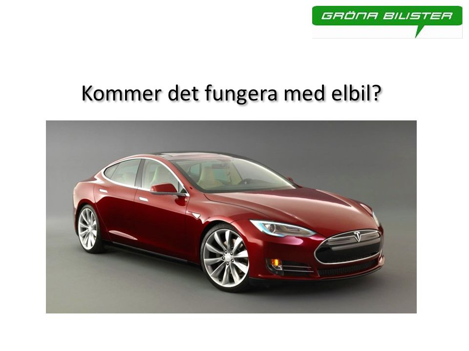 Kommer det fungera med elbil?
