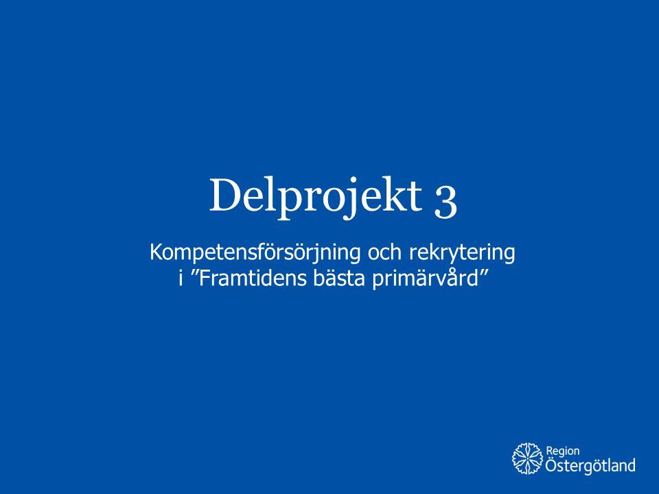 """Region Östergötland Delprojekt 3 Kompetensförsörjning och rekrytering i """"Framtidens bästa primärvård"""""""