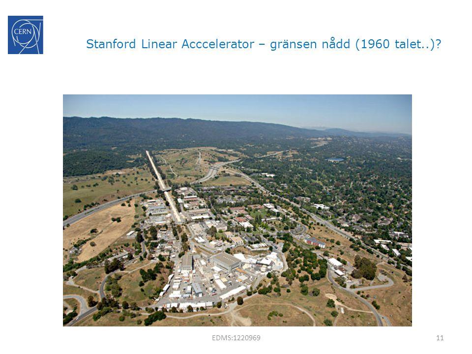Stanford Linear Acccelerator – gränsen nådd (1960 talet..)? 11EDMS:1220969