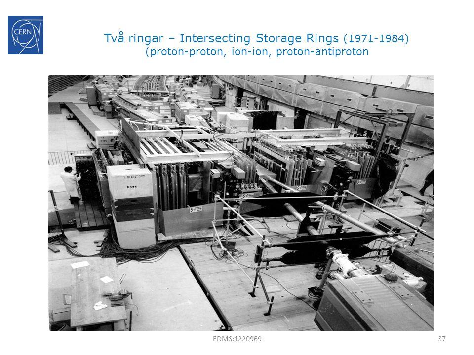 Två ringar – Intersecting Storage Rings (1971-1984) (proton-proton, ion-ion, proton-antiproton 37EDMS:1220969