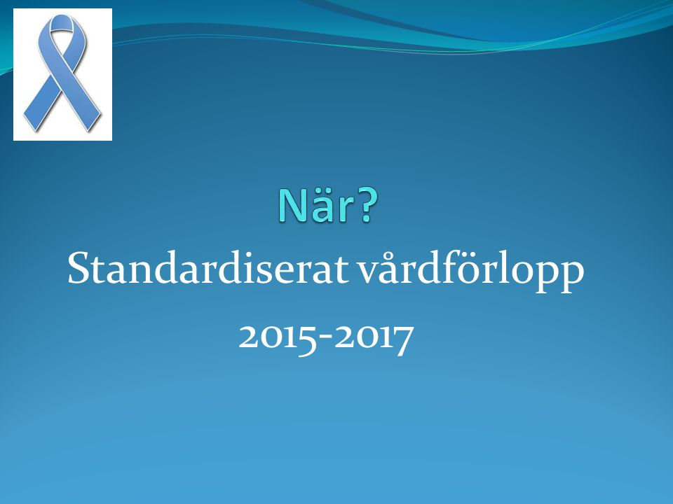 Standardiserat vårdförlopp 2015-2017