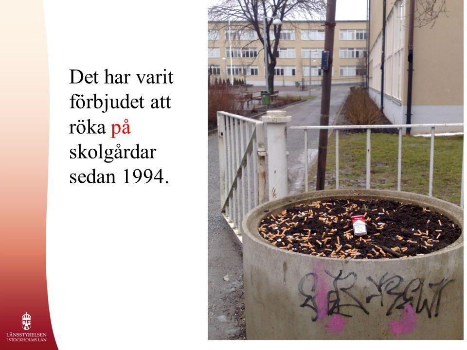 Det har varit förbjudet att röka på skolgårdar sedan 1994.