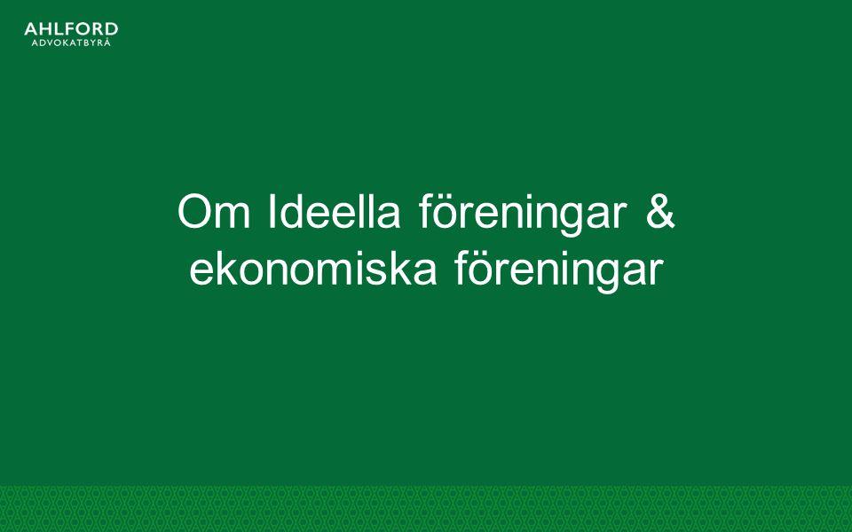 Om Ideella föreningar & ekonomiska föreningar
