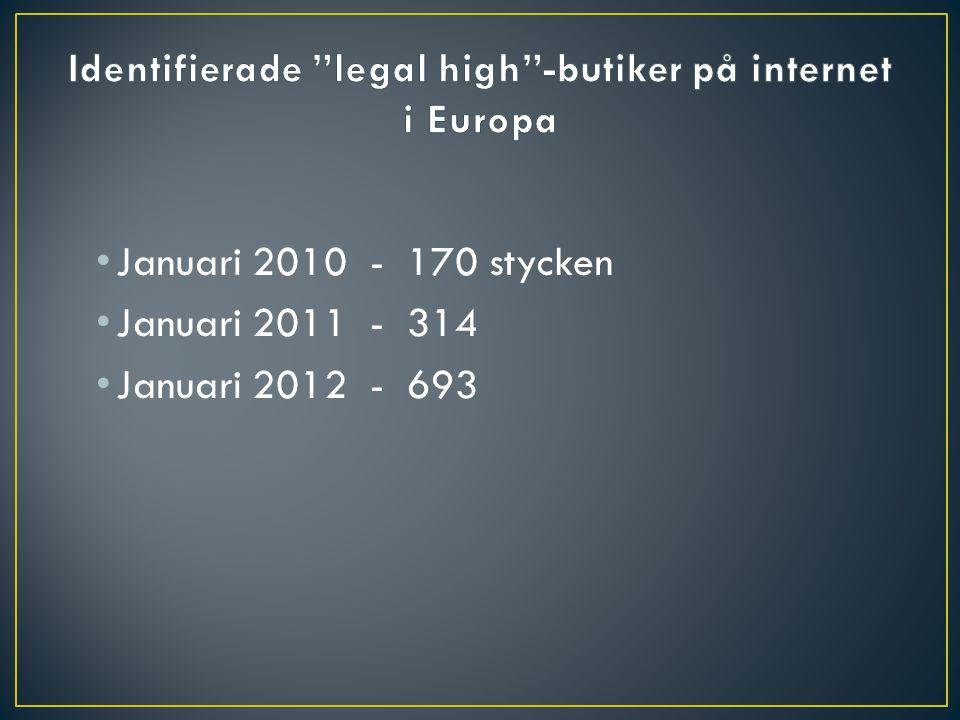 Januari 2010 - 170 stycken Januari 2011 - 314 Januari 2012 - 693