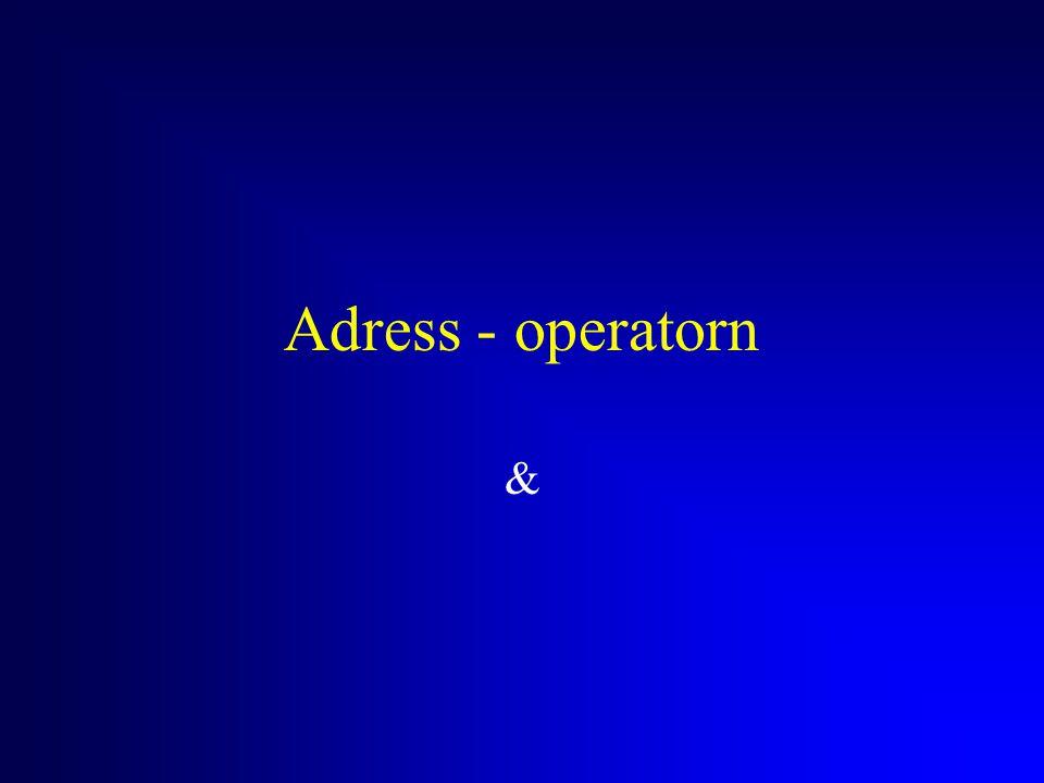 Adress - operatorn &