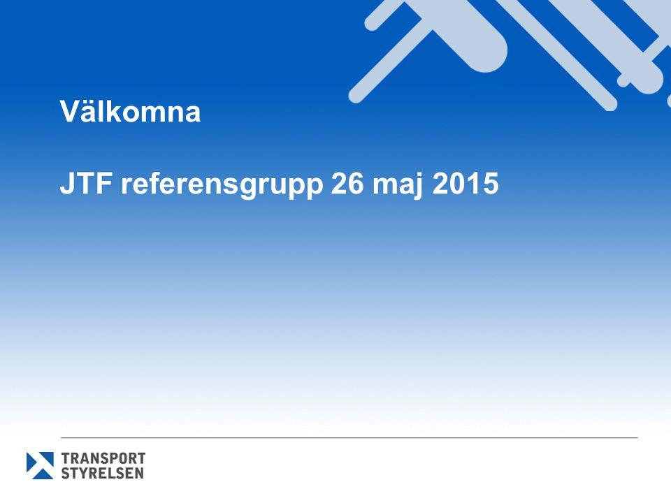 Välkomna JTF referensgrupp 26 maj 2015