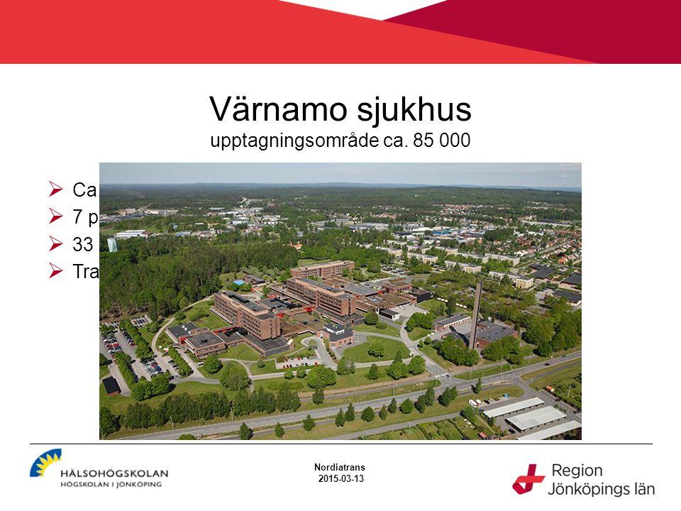 Värnamo sjukhus upptagningsområde ca.85 000 Ca.