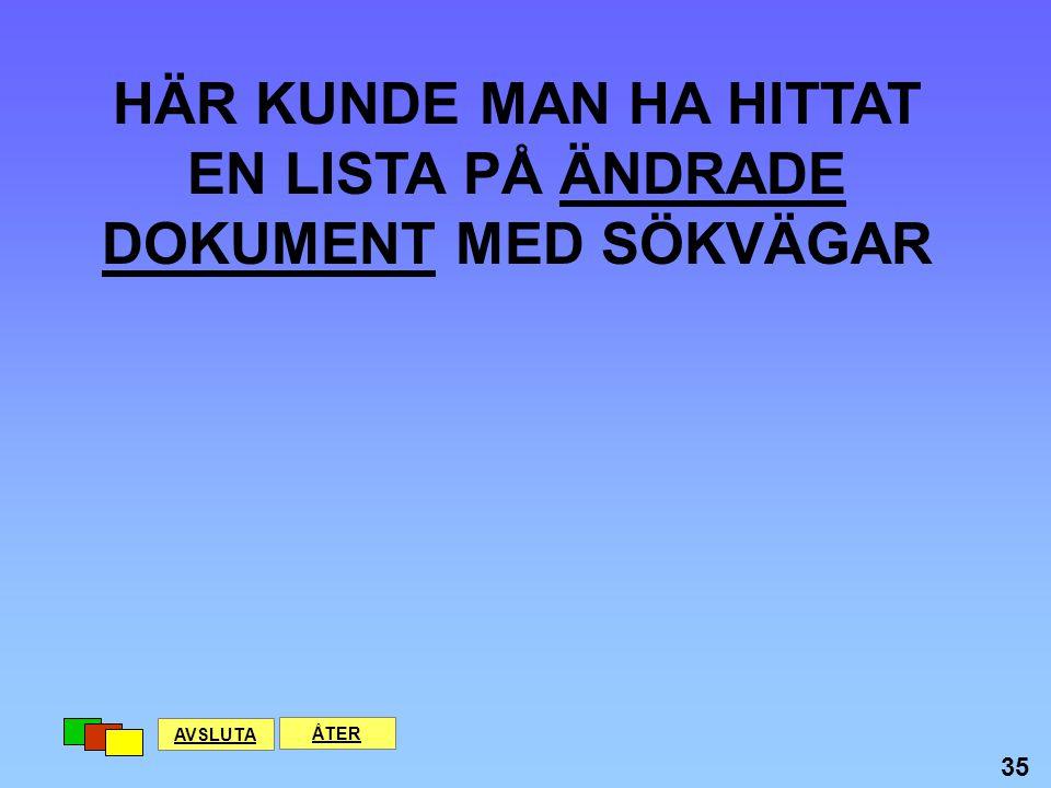 DET HÄR SKA FÖRESTÄLLA EN RUTIN FÖR REKRYTERING AVSLUTA ÅTER 34