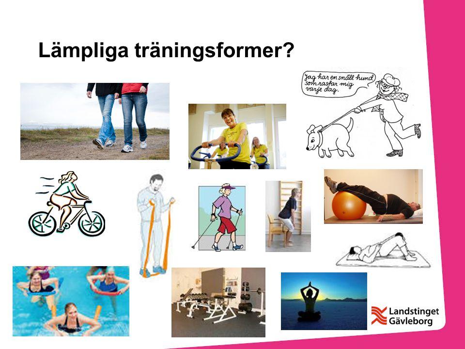 Lämpliga träningsformer?