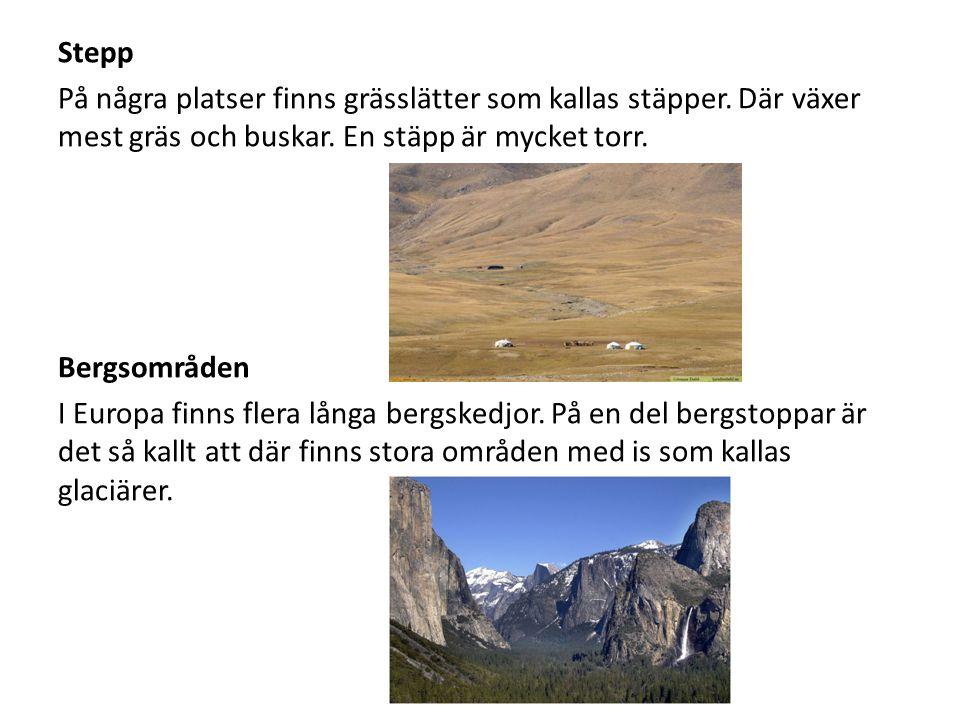 Slätter En slätt är ett stort platt fält utan några höga berg.