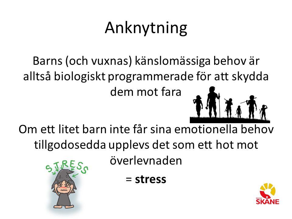 Barns (och vuxnas) känslomässiga behov är alltså biologiskt programmerade för att skydda dem mot fara Om ett litet barn inte får sina emotionella beho